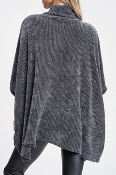 White Birch Charcoal Oversized Sweater - Alternate List Image