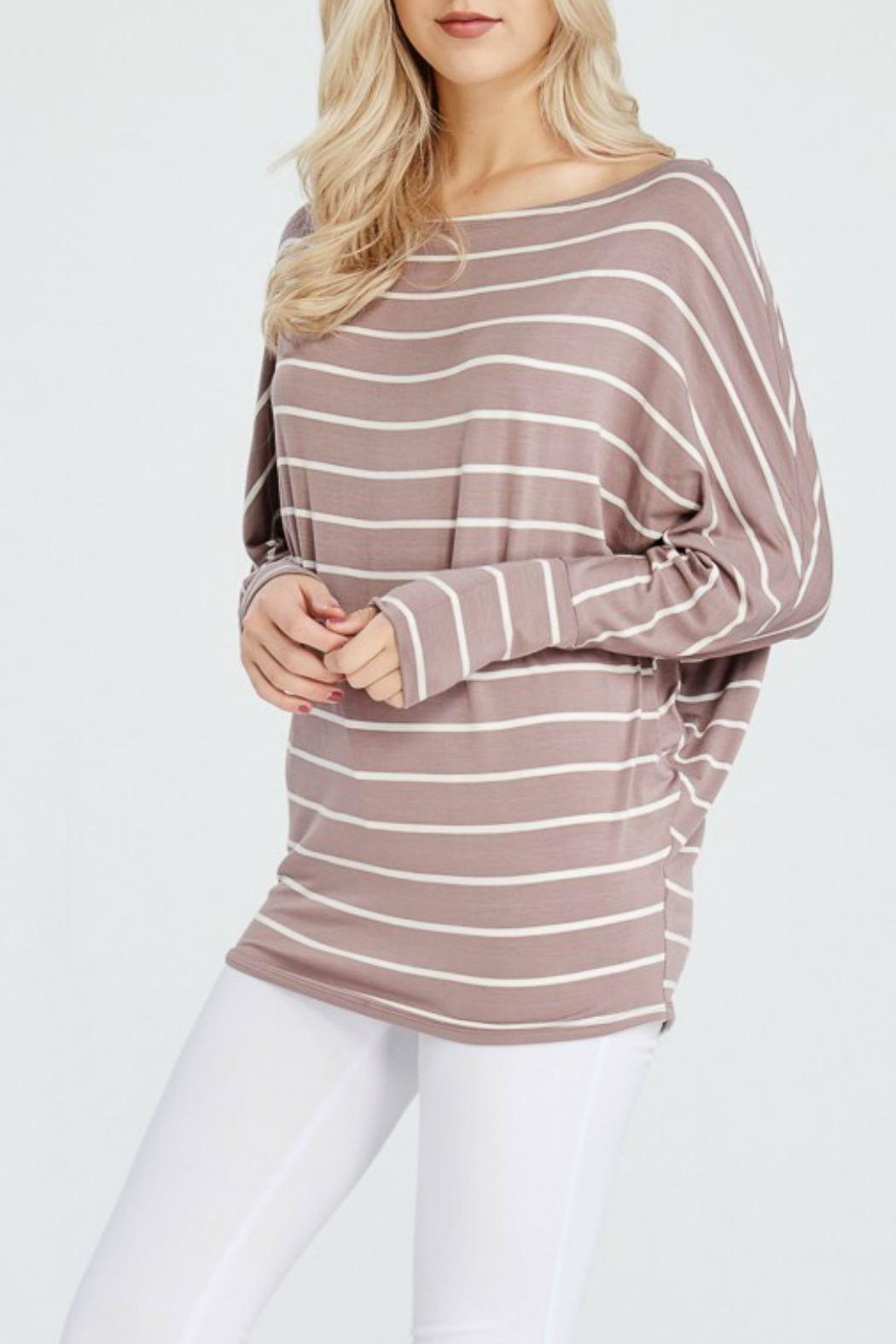 White Birch Claire Dolman Top - Front Full Image