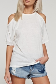 White Birch Cold Shoulder Top - Front cropped