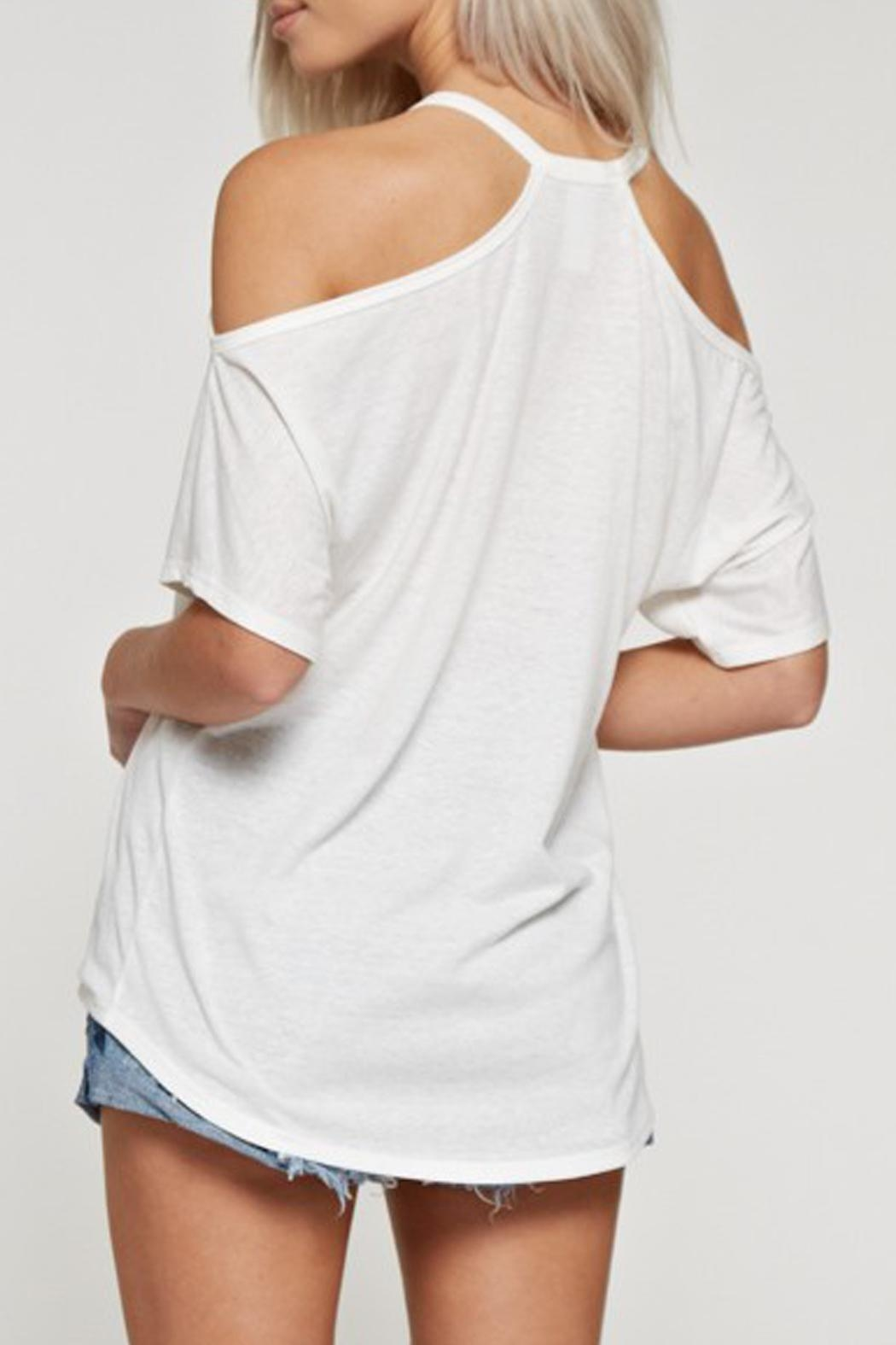 White Birch Cold Shoulder Top - Front Full Image