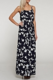 White Birch Flower Print Maxi Dress - Product Mini Image