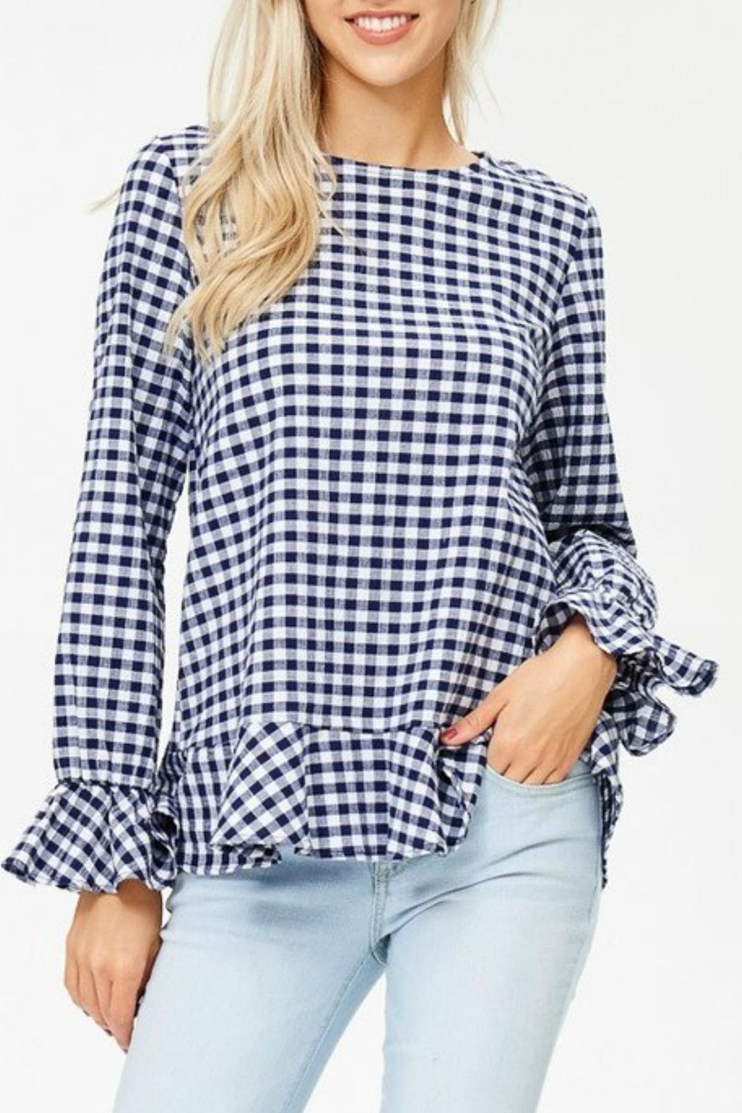 White Birch Haley Gingham Top - Main Image