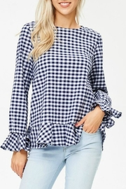 White Birch Haley Gingham Top - Front cropped
