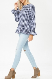 White Birch Haley Gingham Top - Side cropped
