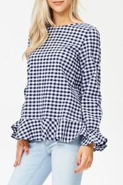 White Birch Haley Gingham Top - Front full body