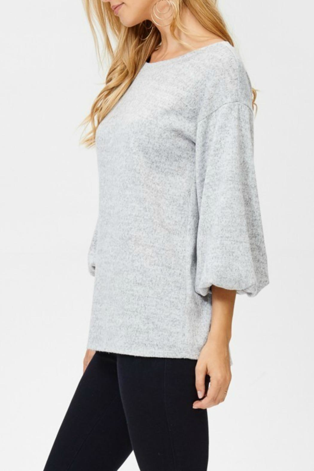 White Birch Heather Gray Sweater - Front Full Image