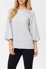 White Birch Heather Gray Sweater - Product Mini Image