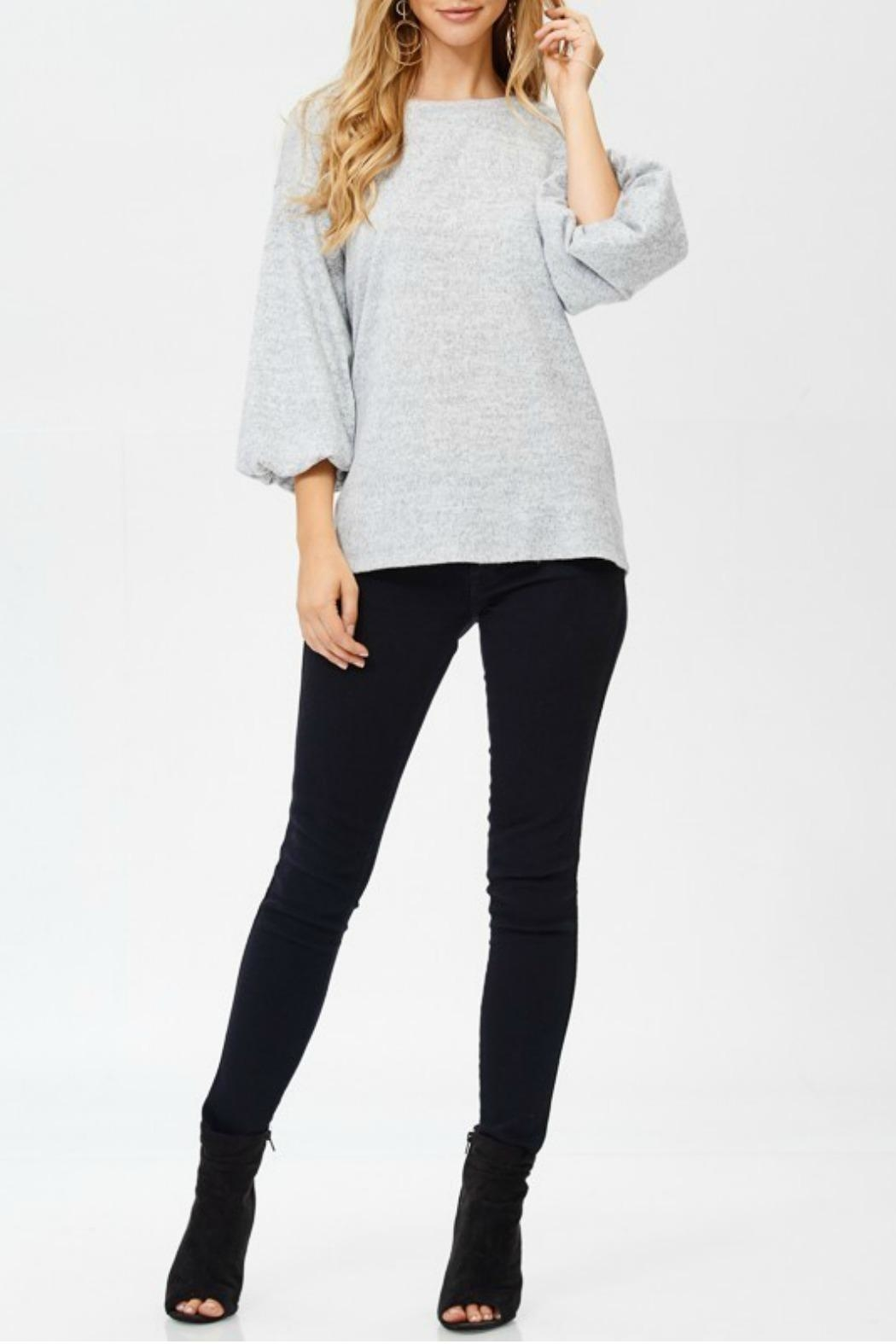 White Birch Heather Gray Sweater - Side Cropped Image