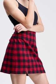 White Birch Plaid Skirt - Product Mini Image
