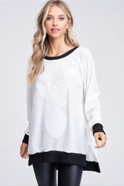 White Birch Reindeer Outline Top - Front cropped