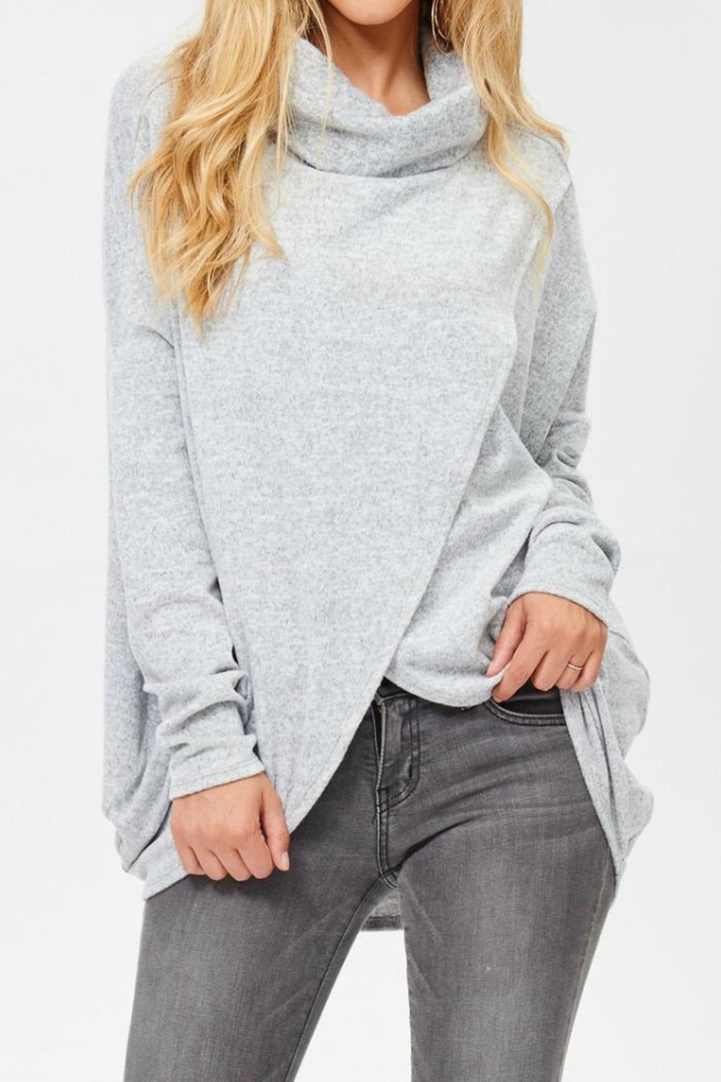 White Birch Tunic Sweater - Front Cropped Image