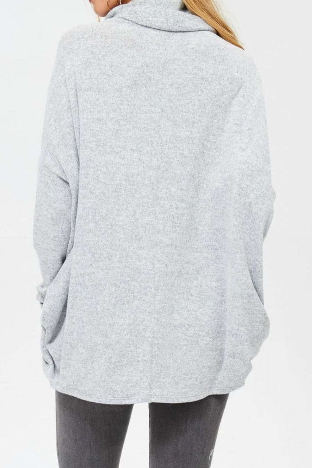White Birch Tunic Sweater - Side Cropped Image