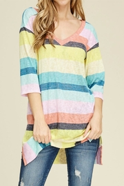 White Birch V-Neck Striped Top - Product Mini Image