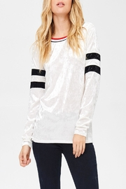White Birch Varsity Velvet Top - Front full body