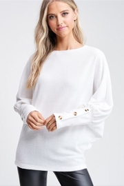 White Birch White Chenille Top - Front cropped