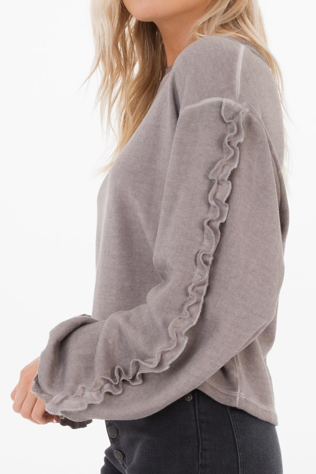 White Crow Abbie Cropped Sweater - Back Cropped Image