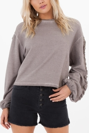 White Crow Abbie Cropped Sweater - Front cropped