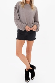 White Crow Abbie Cropped Sweater - Front full body