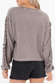 White Crow Abbie Cropped Sweater - Side cropped