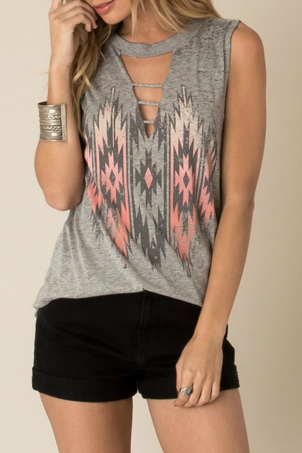 White Crow Aztec Choker Tank - Front Cropped Image