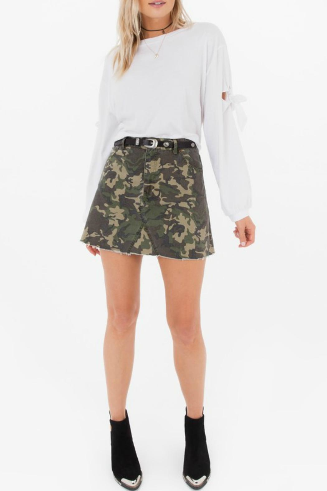White Crow Battlefield Camo Skirt - Back Cropped Image