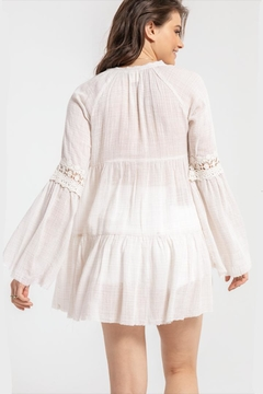 White Crow Bell-Sleeve Boho Top - Alternate List Image