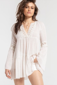 White Crow Bell-Sleeve Boho Top - Product List Image