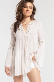 White Crow Bell-Sleeve Boho Top - Product Mini Image