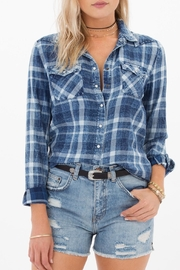 White Crow Blue Plaid Top - Product Mini Image