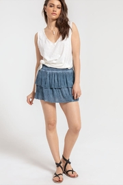 White Crow Blue Ruffle Mini - Front cropped