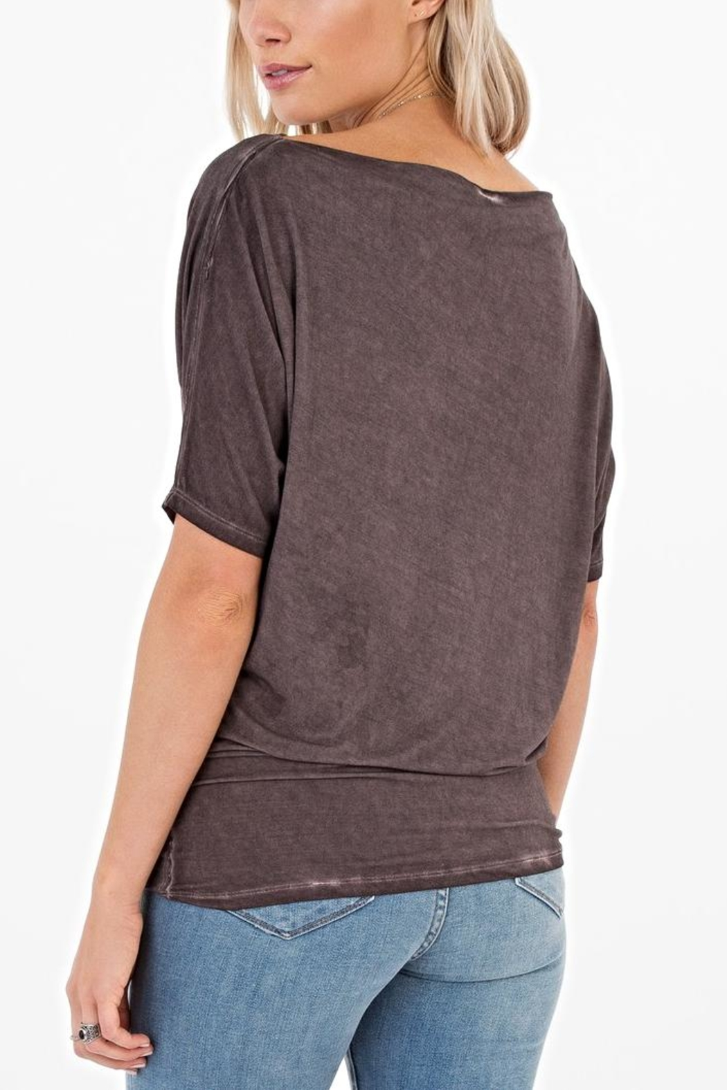 White Crow Boatneck Top - Front Full Image