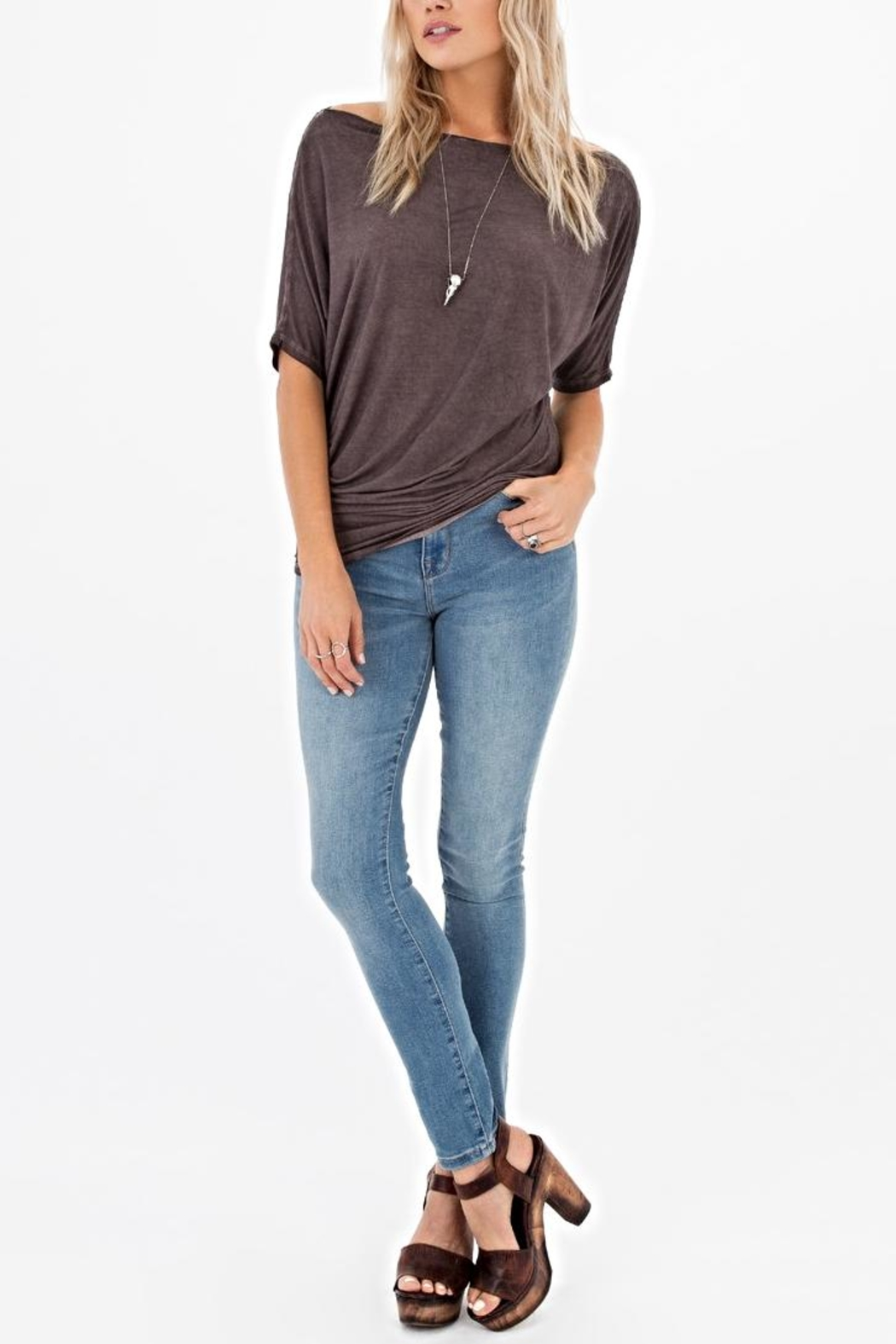 White Crow Boatneck Top - Side Cropped Image