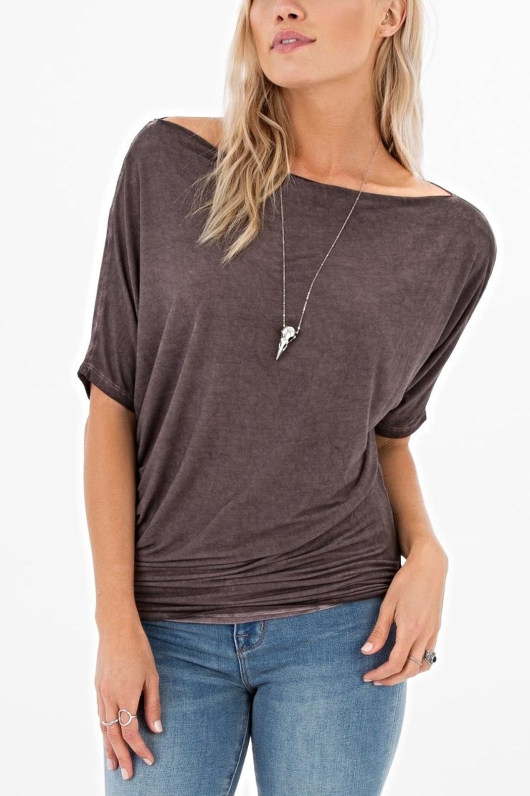 White Crow Boatneck Top - Main Image