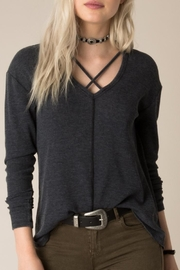 White Crow Burnout Thermal Top - Front cropped