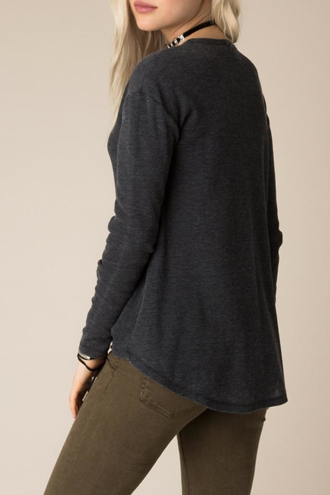 White Crow Burnout Thermal Top - Front Full Image