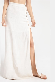 White Crow Button-Slit Long Skirt - Product Mini Image