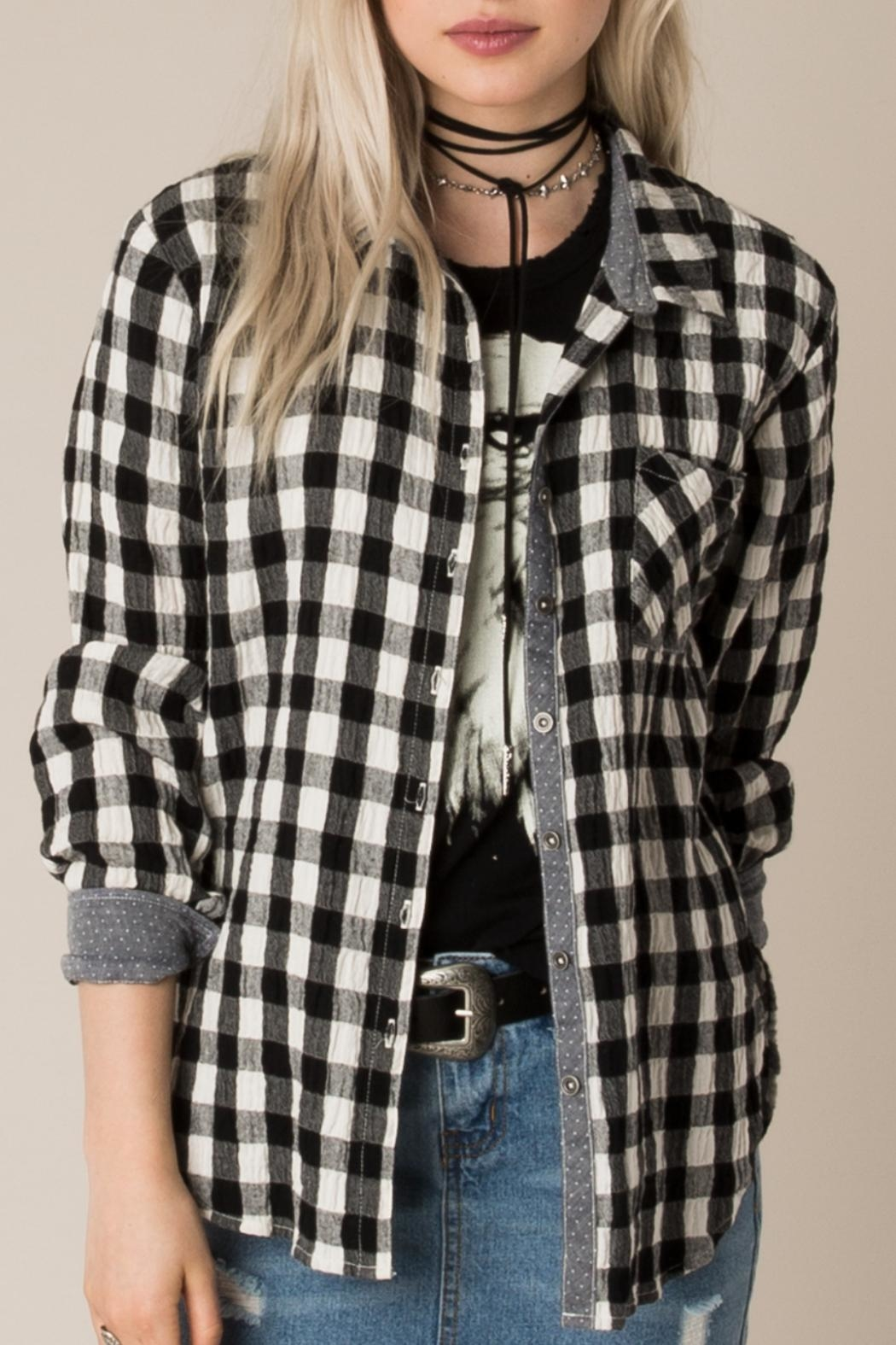 White Crow Checked Out Button Down - Main Image