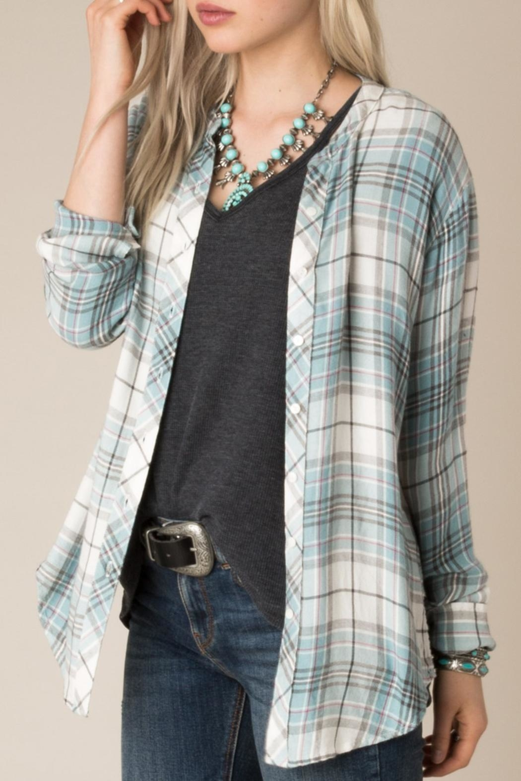 White Crow Checkmate Plaid Shirt - Main Image