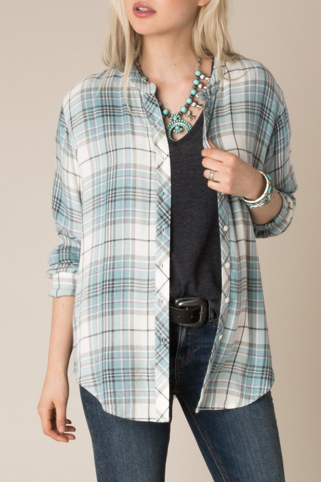 White Crow Checkmate Plaid Shirt - Front Full Image