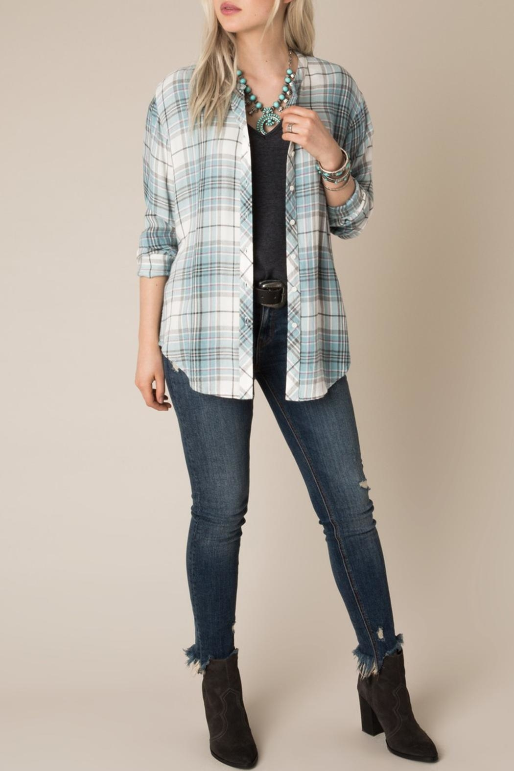 White Crow Checkmate Plaid Shirt - Back Cropped Image