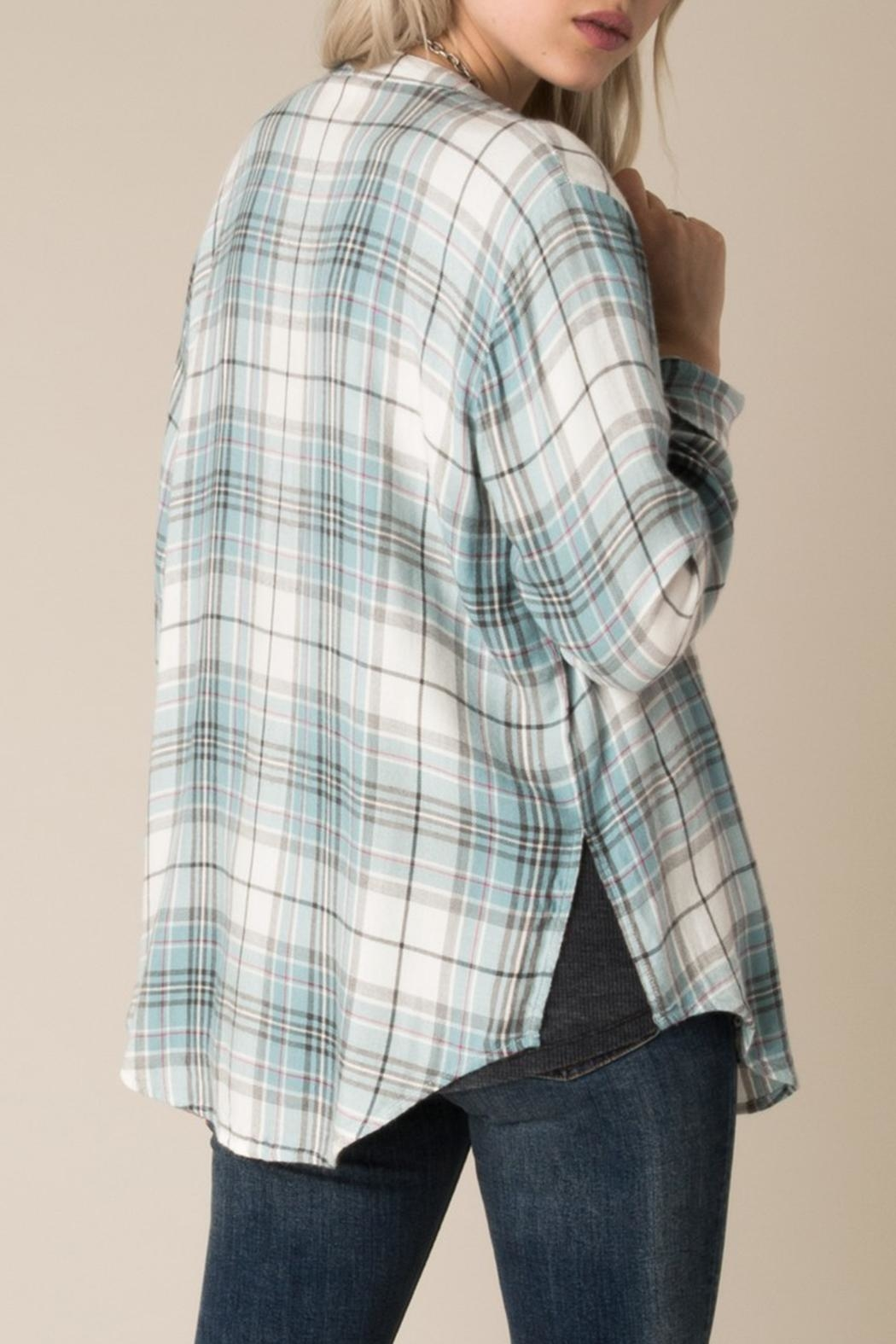White Crow Checkmate Plaid Shirt - Side Cropped Image
