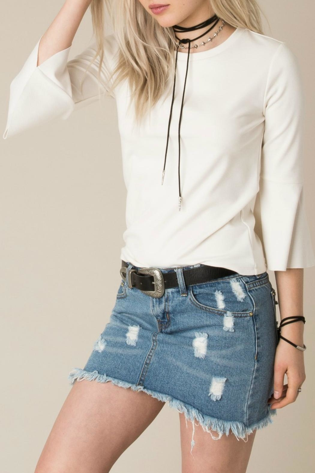 White Crow Cherish Bell-Sleeve Top - Front Cropped Image