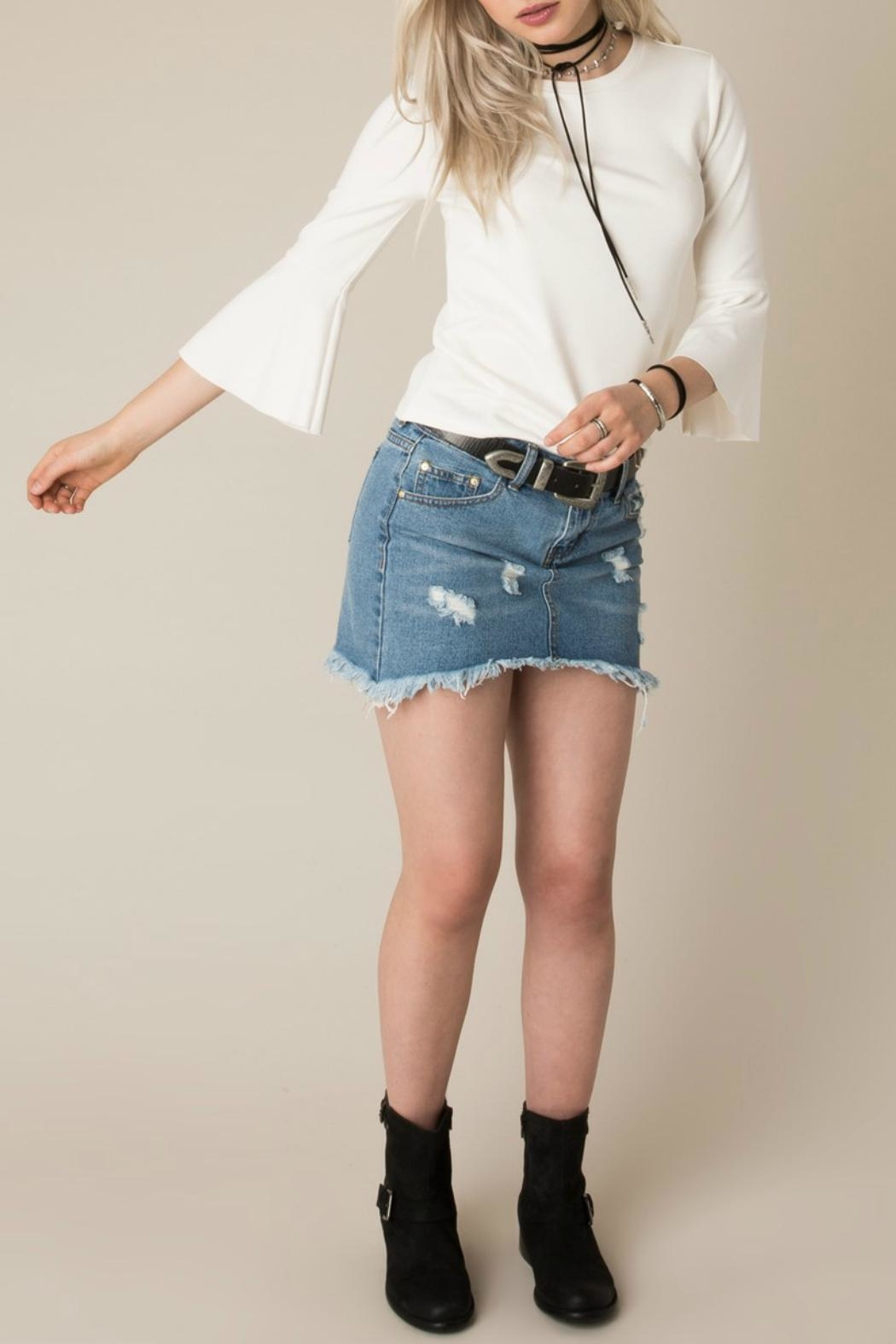 White Crow Cherish Bell-Sleeve Top - Side Cropped Image