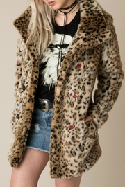 White Crow Chloe Faux Fur Coat - Front cropped
