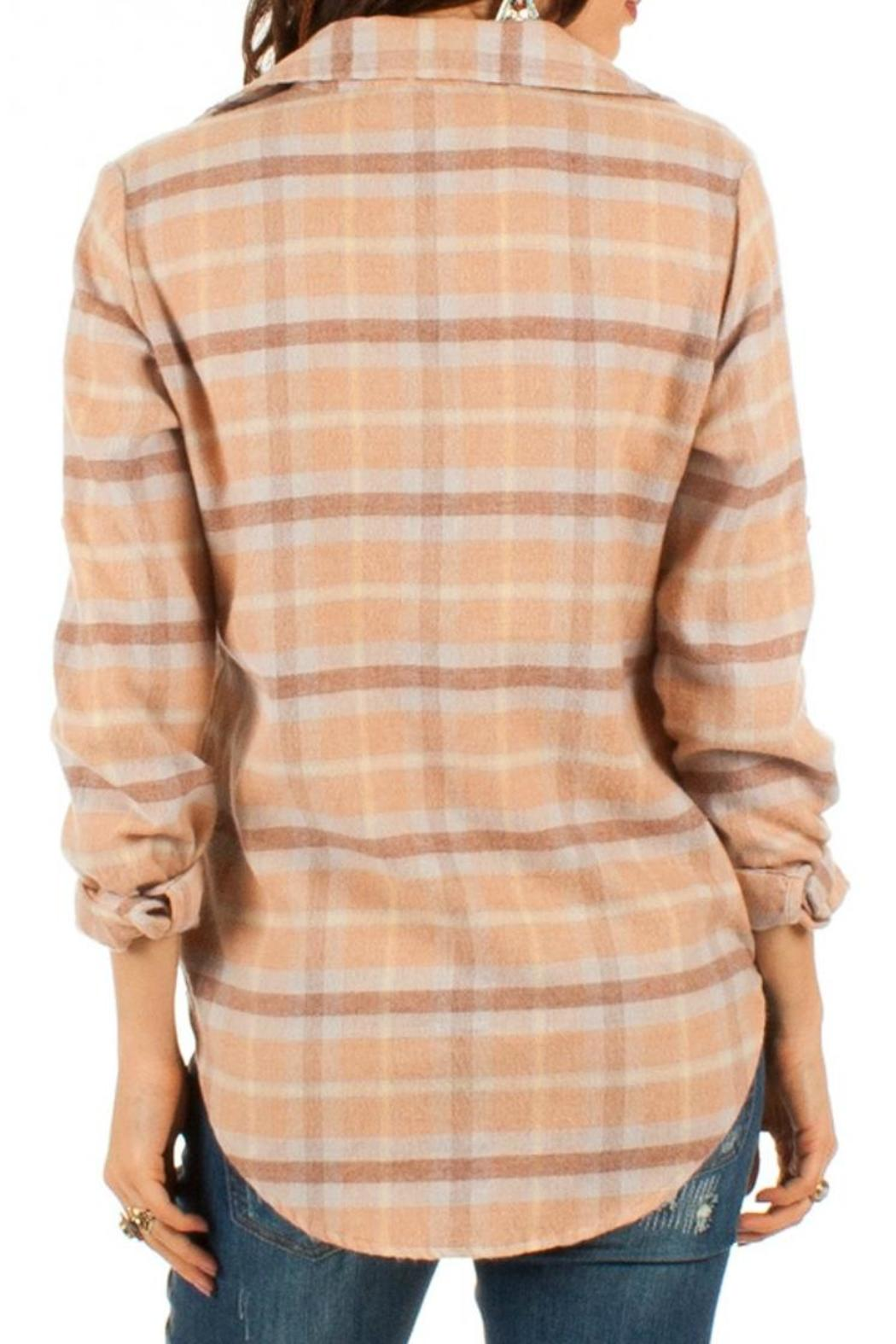 White Crow Cream Plaid Top From New Jersey By Wink