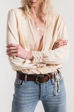 White Crow Crochet Cream Blouse - Product List Image