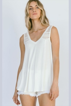 White Crow Crochet Detailed Tank - Product List Image
