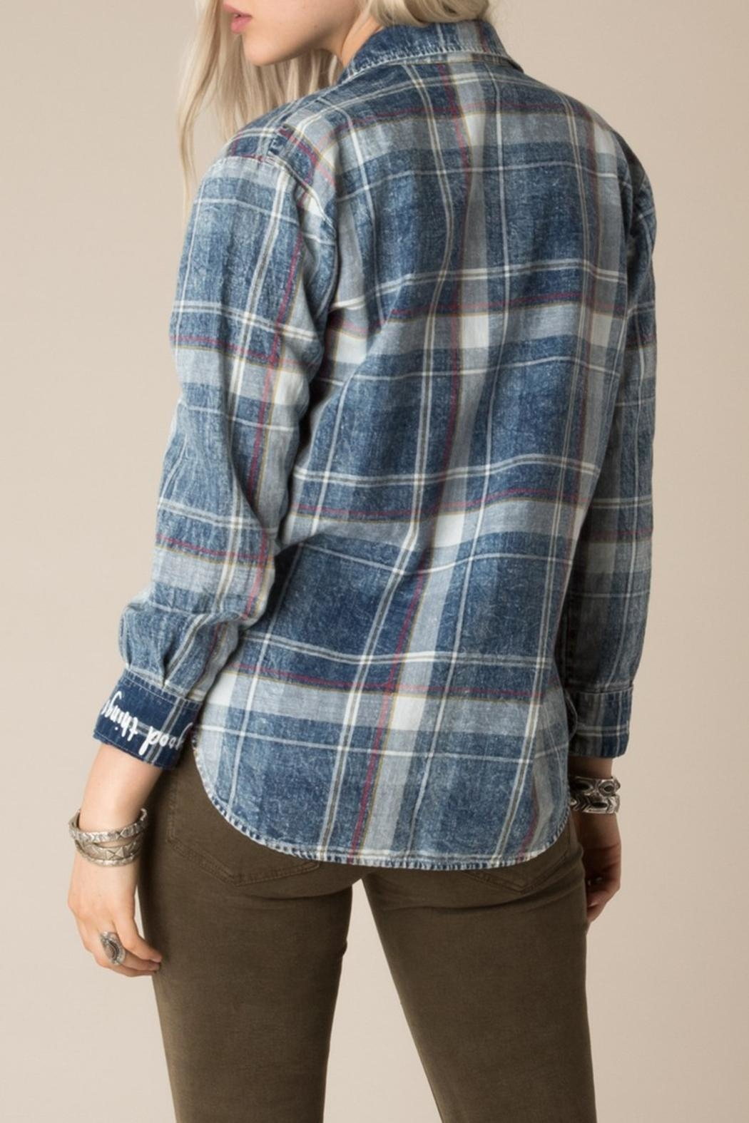 White Crow Dorado Plaid Shirt - Side Cropped Image