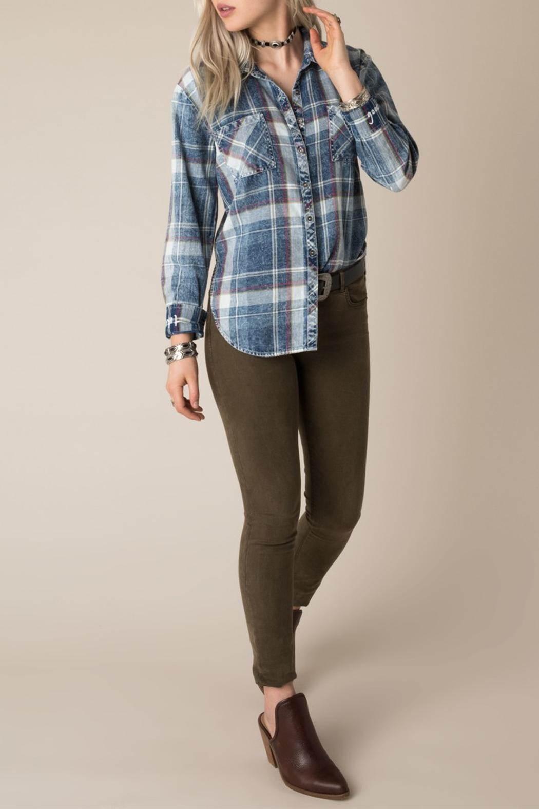 White Crow Dorado Plaid Shirt - Main Image