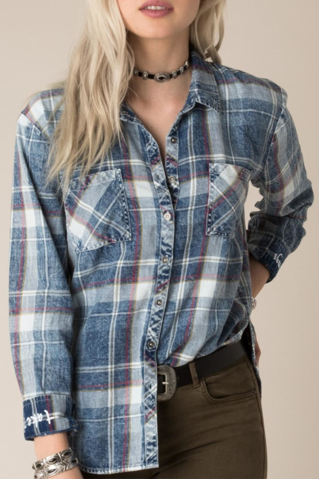 White Crow Dorado Plaid Shirt - Front Cropped Image